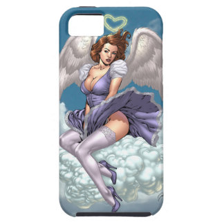 Brunette Angel Pinup with Heart Halo by Al Rio iPhone 5 Cover