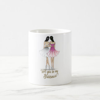 Brunette Bride/Brunette Bridesmaid Mug
