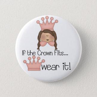 Brunette Crown Fits 2 Inch Round Button