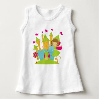 Brunette Fairy Princess Baby Sleeveless Dress