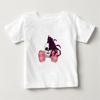 brunette female skull baby T-Shirt