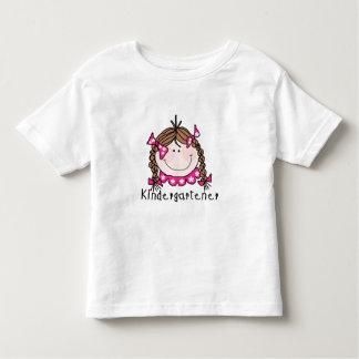 Brunette Girl Kindergartener Toddler T-shirt