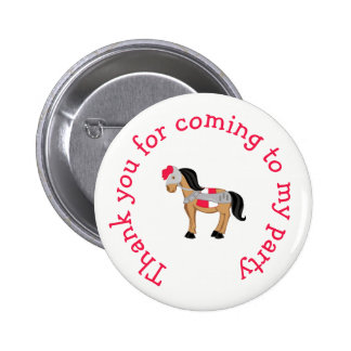 Brunette Knight 'Thank you for coming' 2 Inch Round Button