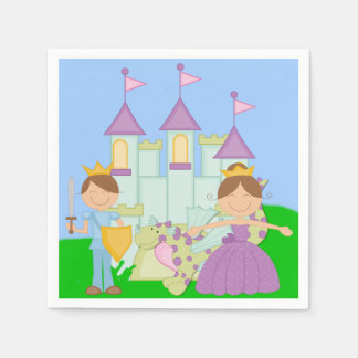 Brunette Prince and Princess Paper Napkins