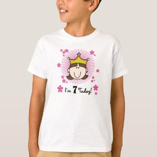 Brunette Princess 7th Birthday T-Shirt
