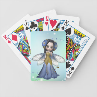 Brunette Princess Butterfly Playing Cards
