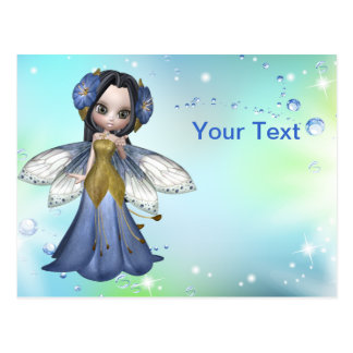 Brunette Princess Butterfly Postcard