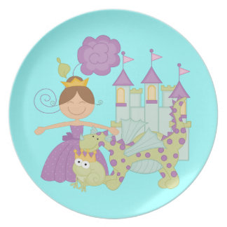 Brunette Princess Plate