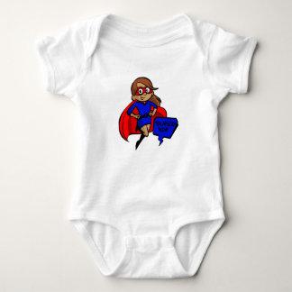 brunette super mom baby bodysuit