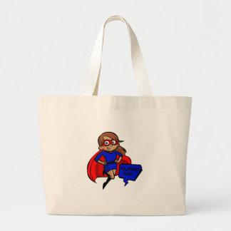 brunette super mom large tote bag