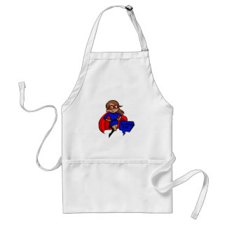 brunette super mom standard apron