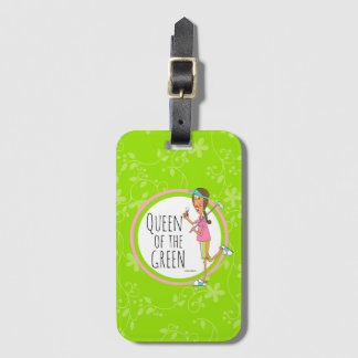 Brunette Vertical Queen of the Green Luggage Tag