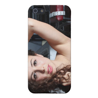 Brunette Woman iPhone 5 Cover
