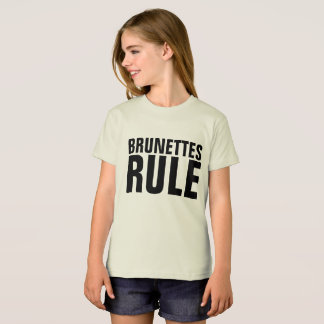 BRUNETTES RULE teen girls kids T-shirts