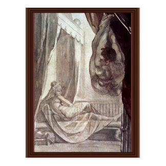 Brunhilde Observed Gunther,  By Füssli Johann Hein Postcard
