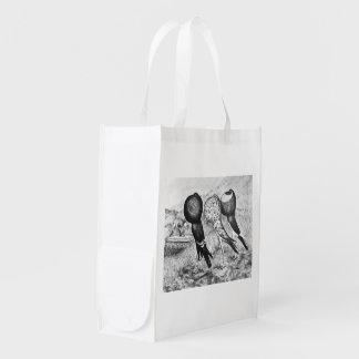 Brunner Pouter Pigeons Reusable Grocery Bag