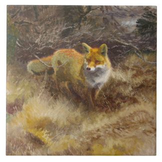 Bruno Liljefors - Fox and Landscape Tile