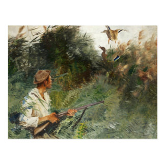 Bruno Liljefors - Hunter and Mallards Postcard