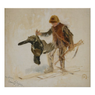 Bruno Liljefors Juvenile Grouse Hunter Study 1924 Poster