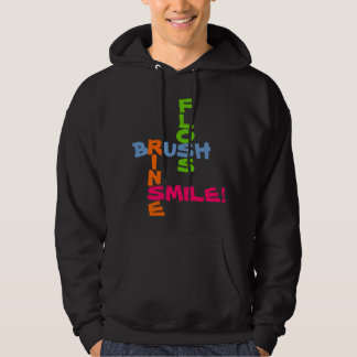Brush Floss Rinse Smile Hoodie