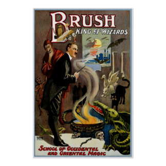 Brush King of Wizards Poster