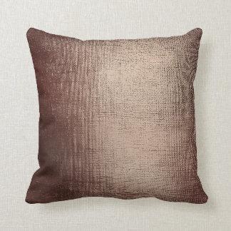 Brush Minimal Metallic Shiny Sepia Brown Noir Glam Throw Pillow