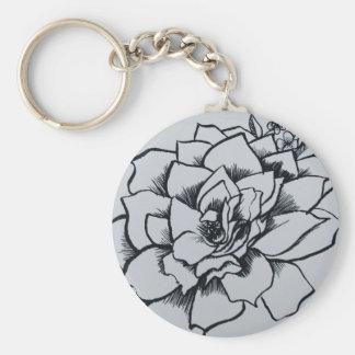 Brush Rose Keychain