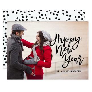 Brush Script Happy New Year Photo Card