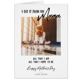 Brush Script Mother's Day Photo Card