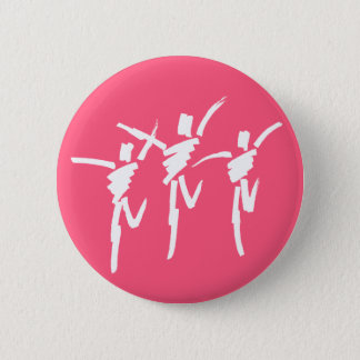 Brush Stroke Dance Trio Button in Dark Pink