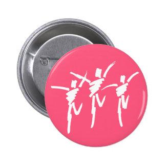 Brush Stroke Dance Trio Button in Dark Pink