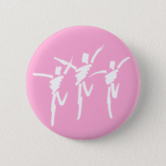 Brush Stroke Dance Trio Button in Pink