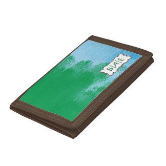 Brush Stroke Monogram Wallet