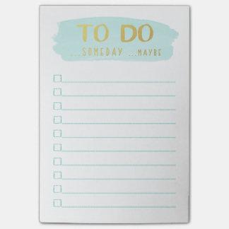 Brush Stroke | Procrastinator's To Do List Post-it Notes