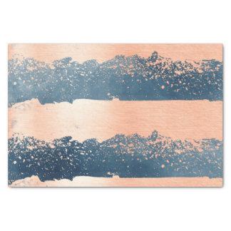 Brush Strokes Denim Blue & Pink Tissue Paper