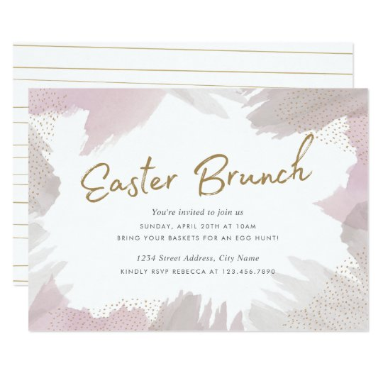 Brush Strokes Easter Invite