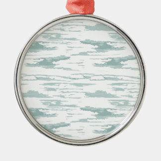 Brush strokes pattern 10 metal ornament