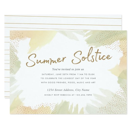 Brush Strokes Summer Solstice Invite