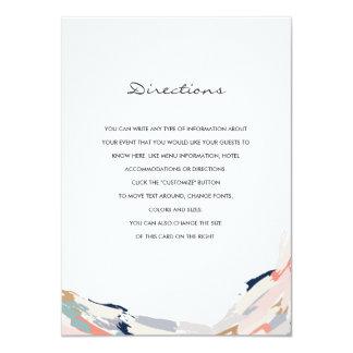 Brush Strokes Wedding Insert Card
