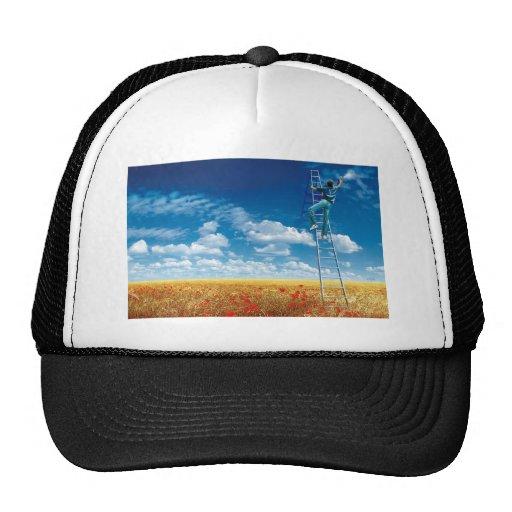 Brush the Sky - cap Mesh Hats
