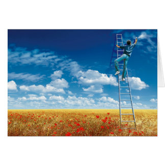 Brush the Sky - greeting map Greeting Card