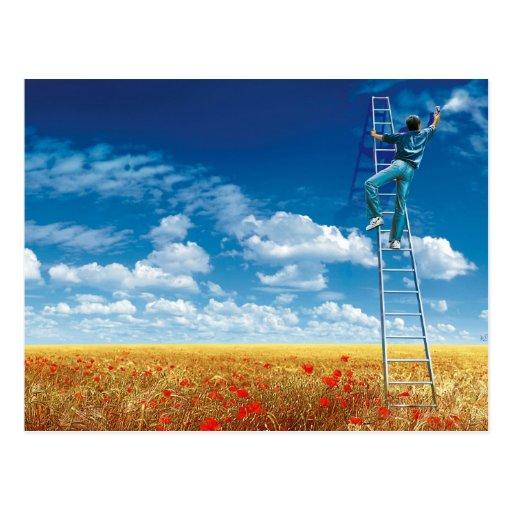 Brush the Sky - postcard