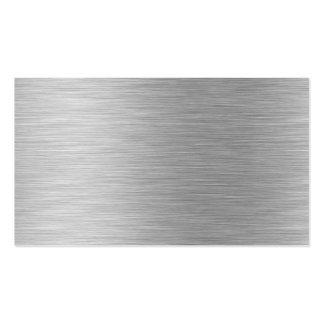 brushed aluminum business card