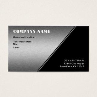 Brushed Aluminum Business Cards