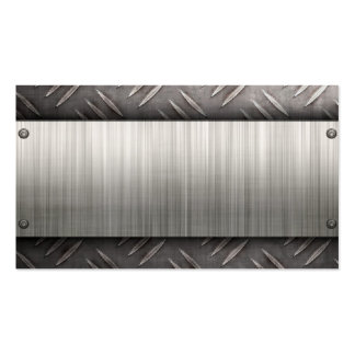 brushed aluminum diamond plate business card