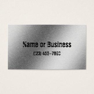 Brushed Aluminum Effect Business Card
