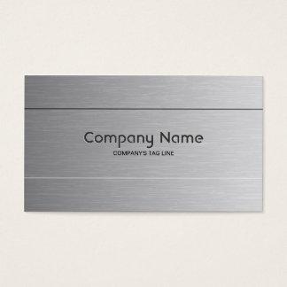 Brushed Aluminum Look Business Card Template