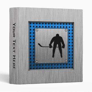 Brushed Aluminum look Hockey Vinyl Binders
