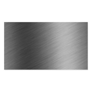 Brushed Aluminum Metal Look Business Card Template