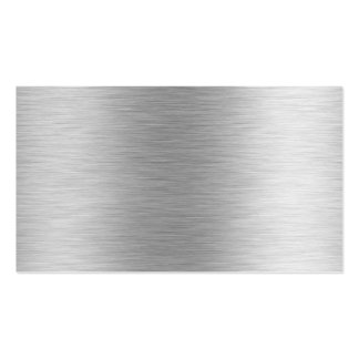 Brushed Aluminum Stainless Steel (faux) Business Card Template